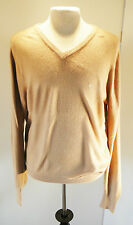 Mens Vintage 1980s Christian Dior Monsieur Camel Acrylic Pullover Sweater Large