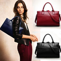 UK Luxury Women Ladies Handbag Shoulder Bag Genuine Leather Bag Tote Satchel Lot