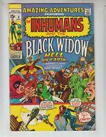Amazing Adventures 6 FVF (7.0) 5/71 Black Widow and Inhumans! Adams art!