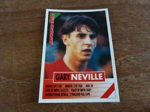 Gary Neville - Panini Super Players 96 Football Sticker - VGC! 1996