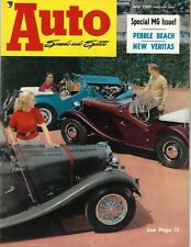 Auto Speed & Sport magazine 1952 July  Pebble Beach, Turin GP, Fiat 8V