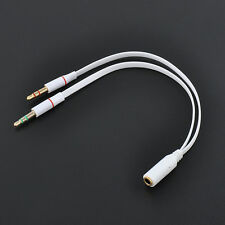3.5mm Stereo Audio Y Splitter 1 Female to 2 Dual Male Cable For Headphone PC Mic