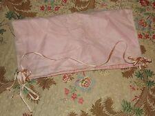 Sweet ANTIQUE VINTAGE NET LACE Pink BOUDOIR Lingerie CASE Peach Ribbon