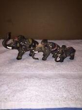Group Of Three Circus Elephant Figurines