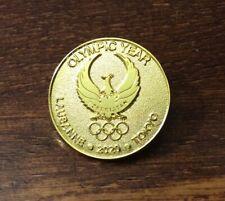 Lausanne 2020-Tokyo 2020 Uzbekistan NOC dated  pin