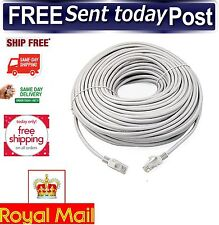 20M Long Cat6 Ethernet Cable High Speed RJ45 Network Gigabit LAN PC Laptop Lead