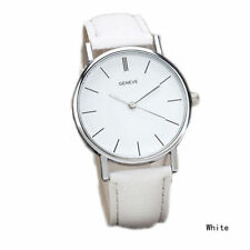 Ladies Fashion Silver Geneve Quartz White Faced White Band Wrist Watch.(Aussie)