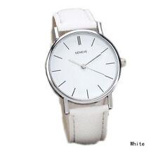 Ladies Fashion Silver Geneve Quartz White Faced White Band Wrist Watch.(Aussie)