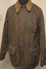 """BARBOUR SOLWAY HEAVY WAX COTTON JACKET DARK OLIVE 42"""" / 107 CM VINTAGE 1980S"""