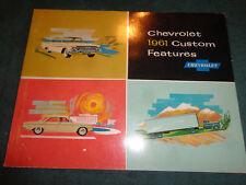 1961 CHEVROLET CAR & TRUCK CUSTOM FEATURE ACCESSORIES DEALER ALBUM CORVAIR ORIG!