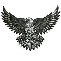 VEGASBEE® AMERICAN BALD EAGLE US NATIONAL SYMBOL BIKER LARGE EMBROIDERED PATCH