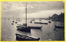 cpa 33 - ARCACHON (Gironde) Effet de NUAGE sur le BASSIN Barques Pêche Pinasses
