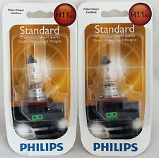 NEW PHILIPS H11 B1 X 2 BULB PAIR PACK 55W OEM 12362 FOG LIGHT BEAM HALOGEN LAMP