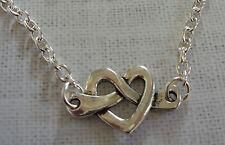 Color Argento Cuore Amore collana con ciondolo pendente con 50.8cm Catena Lunga