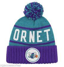 NBA Charlotte Hornets Mitchell & Ness Cuffed Pom Winter Knit Hat Beanie Cap NWT