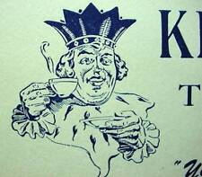 King Cole Tea Coffee Ink Blotter Graphic Advertising