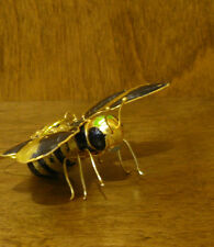 Kubla Craft Ornament KC4881YB  BUBBLE BEE, ARTICULATED, Enameled Pewter New/Box