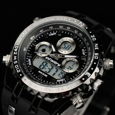 Infantry Mens Digital Chronograph Wrist Watch Date Alarm Military Sport Rubber Black