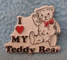 Vintage I Love My Teddy Bear Rubber Magnet AS IS Souvenir, Travel, Refrigerator