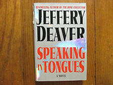 """JEFFERY  DEAVER  Signed Book (""""SPEAKING  IN TONGUES""""- 2000 1st Edition Hardback)"""