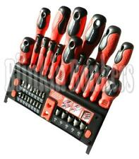 WALL MOUNT SCREWDRIVER SET STAND PRECISION TORX TORQUE POZI HEX STAR SLOTTED BIT