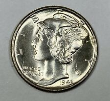 1943 Silver Mercury Dime Choice/Gem Uncirculated