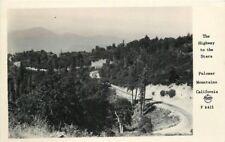 1940s San Diego California Palomar Mountain Highway Frasher RPPC Postcard 6433