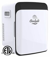 Cooluli Thermoelectric Cooler and Warmer 10 Liter/12 Can AC/DC Portable - White