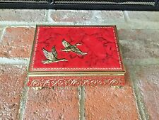 Vintage Blue Bird Confectionary Flying Geese Red Tin Worcestershire England