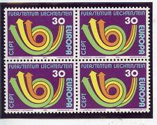 STAMP TIMBRE LIECHTENSTEIN NEUF BLOC DE 4 N° 532 ** EUROPA 1973