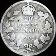 1902-H Good Canada Silver 10 Cents - KM# 10