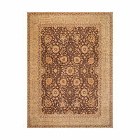 8'10'' x 12'5'' Hand Knotted Wool Peshawar Traditional Oriental Area Rug Brown