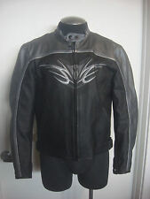 DAINESE Mens Black & Silver Leather Motorbike Jacket Motorcycle SIZE EU 50 Sz M
