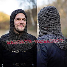 Chainmail Coif Knight Armor Chain Mail Hood Medieval Chain Mail Clothing New