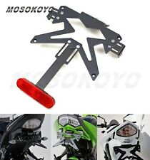 Custom ATV UTV Licence Plate Bracket Black For Kawasaki Ninja 250 Z750 ER6N DIY