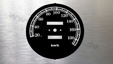 Harley Davidson Tachoscheibe Softail 93 MPH- KMH dial gauge Tacho disk speedo