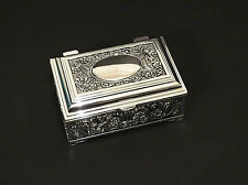 Silver Color Decorated Jewellery Trinket Box Lined With Dark Velveteen
