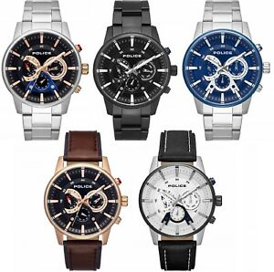 Police Avondale Stainless Steel Bracelet / Leather Strap Gents Watch