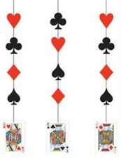 Casino Night Hanging Cutouts 3 Pack Casino Vegas Party Table Decoration
