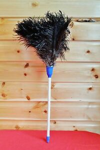 """Special price 20"""" Ostrich Feather Duster with white/blue & plastic handle useful"""
