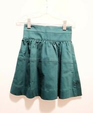 NEW Midi Skirt by Mocha Noir Green Color Size 4 Below Knee Length A-Line Style