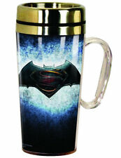Batman vs Superman Dawn of Justice Insulated TRAVEL Coffee MUG Cup