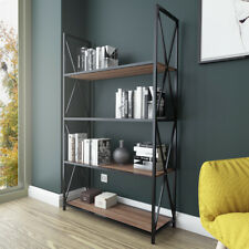 Decorotika Xena 4-Shelf Industrial Bookcase Bookshelf Shelving Unit