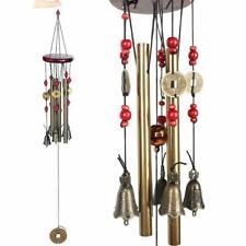 Metal Bronce Hecho a Mano Carillón de viento 4 tubos de 5 campanas Woodstock 60cm Exterior & Interior