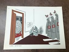 More details for original 1944 ww2 double sided print !  axis war council & musolini
