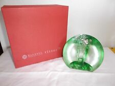 Tittot Crystal Paperweight, Green Cabbage or Bok Choi, Silver Locus, Taiwan, IOB