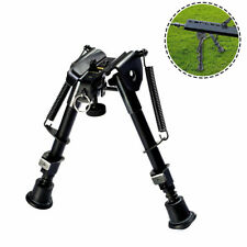 "6-9"" Tactical Gun Rifle Bipod Adjustable Spring Return Sniper Sling Swivel Mount"