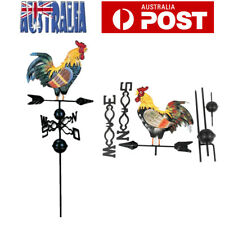 Metal Weather Vane with Rooster Ornament Garden Weathervane Decor AU