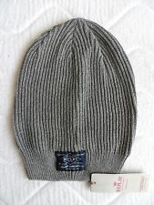 REPLAY Italy Long Grey Cotton BEANIE Toque Tags Hat UNISEX Hat Slouchy Mens