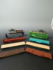 LOT of 10 Vintage HO Scale Train Cars Flat Tyco Varney Revell ROCO Cox